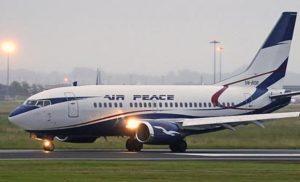 Air Peace burst tyre incident