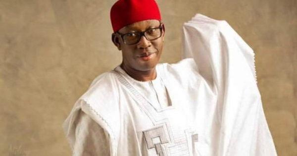 Governor Okowa listens