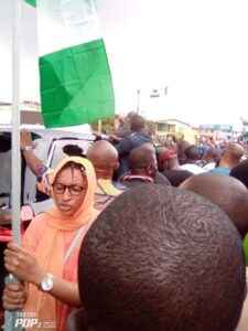 The woman alleged to have initiated attack on Gov Oyetola