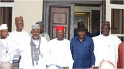 APC governors visit to Jonathan