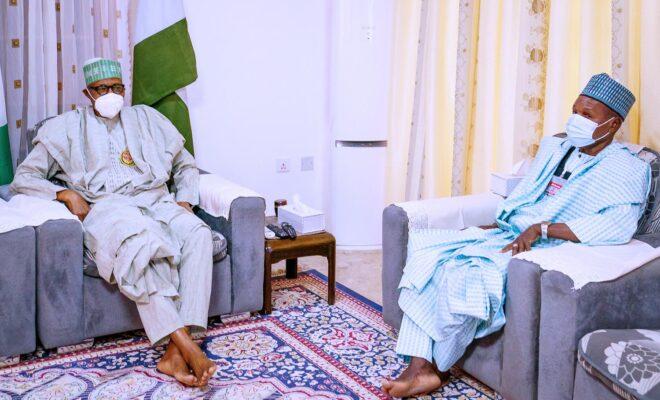 Buhari receives Masari in Daura