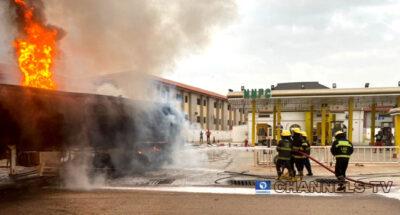 Petrol tanker explodes