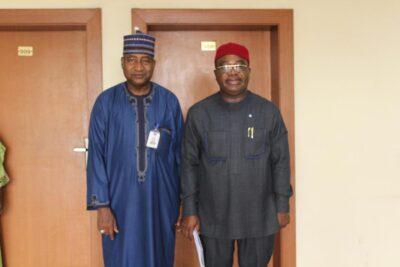 Prof. Ajiya and Mr. Anthony Ojukwu