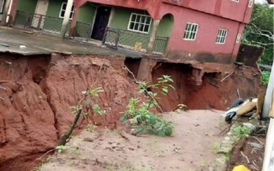 Gully erosion in Delta, Rivers communities